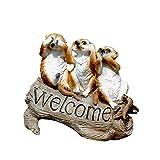 SDBRKYH Statue de Jardin en Plein air, Signe de Bienvenue Animaux bienvenus Logo Sculpture résine Artisanat décoration extérieure