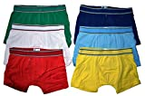 6er Pack Kids Jungen Boxershorts Unterhosen uni Gr. 92 - 164 Neu (116 - 122)