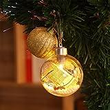 LEDMOMO LED Weihnachtskugel Christbaumkugeln Transparent Weihnachtsanhänger