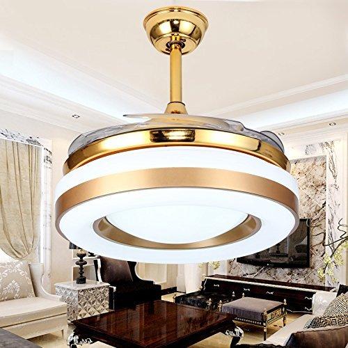 MOMO Personalisierte dekorative Beleuchtung Industrie-Deckenventilator, Esszimmer, Schlafzimmer zu Hause, Retro kleine Deckenventilator, Wohnzimmer-Ventilator-Lampe, Eisen-Klinge ohne Lampe, Ventilat Kleine Klinge Deckenventilator