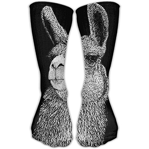 Men's Tube Casual Socks Athletic Short Socks 30cm Outdoor Llama Funny Print
