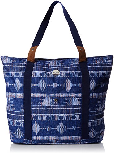 Roxy Other Side Borsa da Spiaggia, 48 cm, Akiya Combo Blue Print