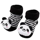 #9: Black Panda Anti Skid 3D socks