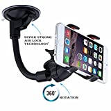 #9: Meya Happy® Car Mobile Holder for Windshield Glass with 360 Degree Rotating Base