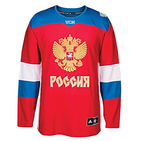 Team Russia 2016 World Cup of Hockey Adidas Men's Premier Red Jersey Maillot