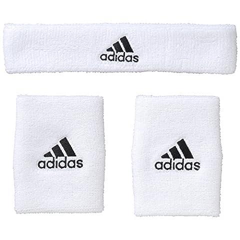 adidas NBA Set de poignet éponge et bandeau de Basket-ball Enfant White/Black