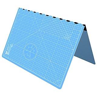 ANSIO A1 Faltbare selbstheilende Schneidematte - 5 Lagen/Zoll und metrisch - 34 x 22.5 Zoll - Geeignet für Basteln, Nähen - Himmelblau