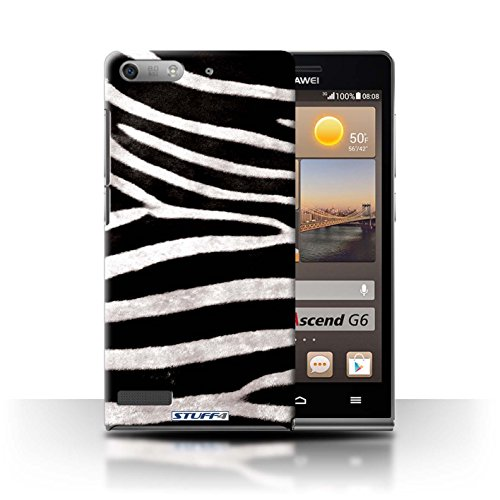 Stuff4 Hülle / Hülle für Huawei Ascend G6 3G / Zebra Muster / Tierpelz Muster Kollektion 3g-zebra