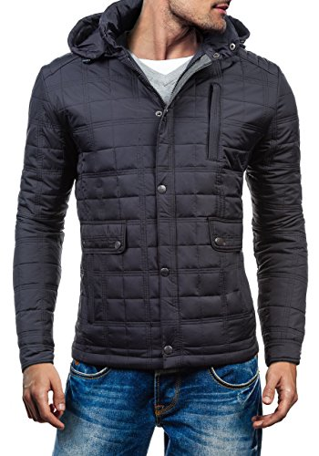 BOLF Herren Übergangsjacke Sweatjacke Jacke Herrenjacke MIX Schwarz_7605