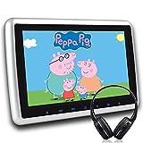 DVD-Player 10,1'' für das Auto HD Kopfstütze Monitor mit kabellosem IR-Kopfhörer,Wzmirai Disc Inhaliert 1080P Digital TFT Tv LCD Breitbild mit HDMI-Anschluss und Fernbedienung
