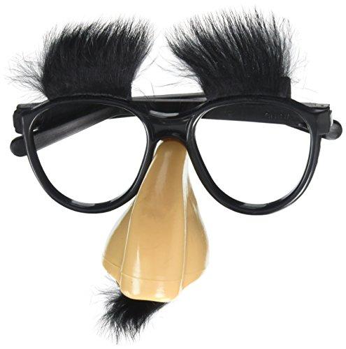 Spaß Brille mit Nase CLASSIC DISGUISE  mit Brauen+Bart