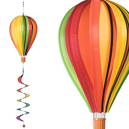 CIM Windspiel - Satorn Balloon Twister Fruits - wetterbeständig - Ballon:Ø23cm x 37cm, Spirale: Ø10 cm x 75cm - inklusive kugelgelagerter Aufhängung