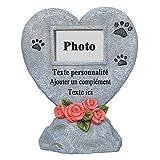 PETAFLOP Cadre Animal Souvenir Plaque Funéraire avec Textes sur Mesure en Forme Coeur