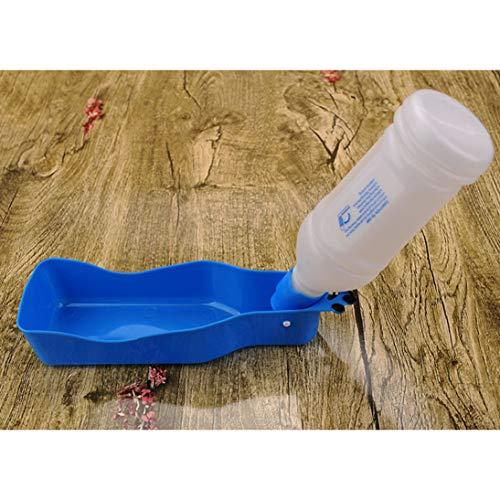 or Travel Water Drink Dispenser Feeder Kunststoff Faltbare Flasche Schüssel für Haustier Hund Katze 350ML / 600ML ()