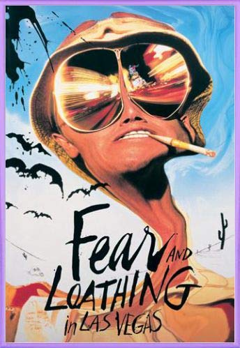 1art1Poster Angst und Abscheu in Las Vegas Johnny Depp Benicio Del Toro (91x 61cm), Kunststoffrahmen, Lila, 24-Inches x 35.8-Inches