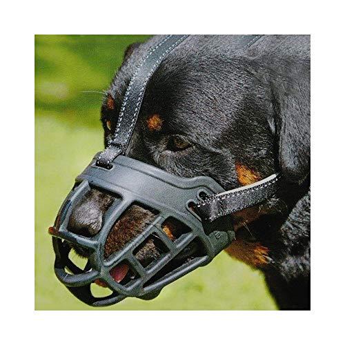 Silikon-Korb Hund Maulkörbe, Ermöglicht Trinken, Keuchen und Essen für Schnauzer Border Collie Golden Retriever Rottweiler YAWJ (Farbe : Schwarz, größe : 4) -