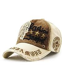 7c4c47186fd72 Gorra de béisbol Unisex ajustable Hat Tioamy Retro Baseball Cap Cap Algodón  Fashinable Ocio Carta Sombrero