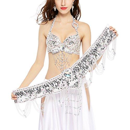 Kleid Schwarzem Diy Halloween Kostüme Mit (Dance Fairy Bauchtanz Oberteil Bh (34C/75C) mit Gürtel Hüfttuch,Keine anderen)
