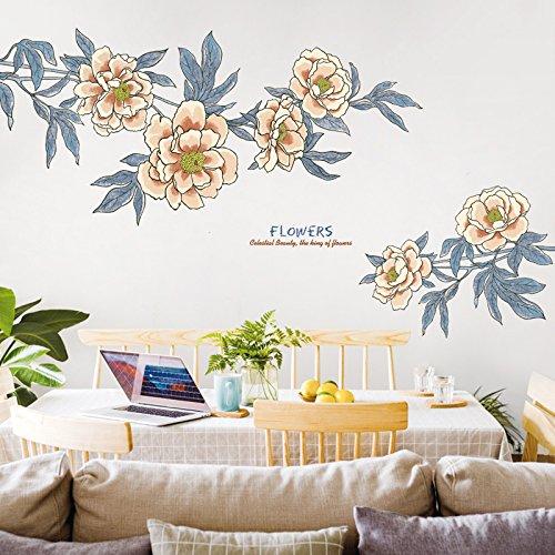 Wandaufkleber Große Retro Blume Ornament Tapete Kreative Warme Schlafzimmer Wohnzimmer Selbstklebende Wandbild