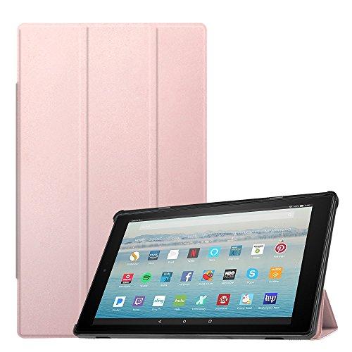 mazon Fire HD 10 Tablet (10-Zoll, 7. Generation - 2017) - Slim Cover Lightweight Schutzhülle Tasche mit Standfunktion und Auto Schlaf/Wach Funktion, Roségold ()
