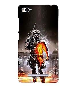 PRINTSHOPPII GAME ARMY Back Case Cover for Xiaomi Redmi Mi4i::Xiaomi Mi 4i