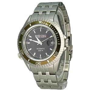 Nautec No Limit Shore - Reloj analógico de caballero automático con correa de acero inoxidable plateada de Nautec No Limit