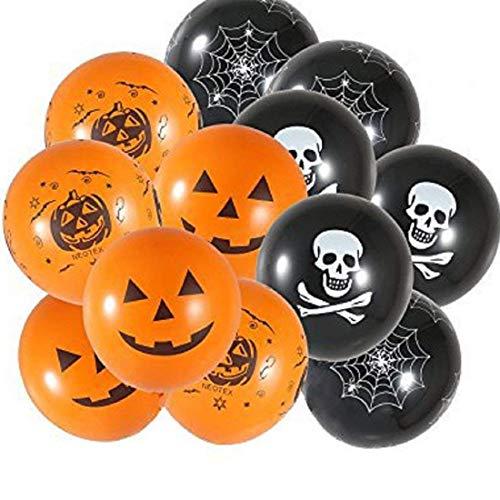 Tongxin 50 Stück Halloween Party Deko Luftballons,12