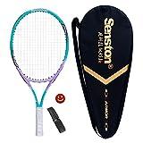 Senston Raqueta de tenis para niños,Para juegos en todas las áreas, Para niños de 6-8 años,Incluido Bolsa de Tenis / 1 grip / 1 Amortiguadores,Azul