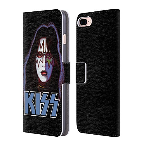 Ufficiale KISS Peter Criss Solo 2 Cover a portafoglio in pelle per Apple iPhone 7 Plus / 8 Plus Ace Frehley