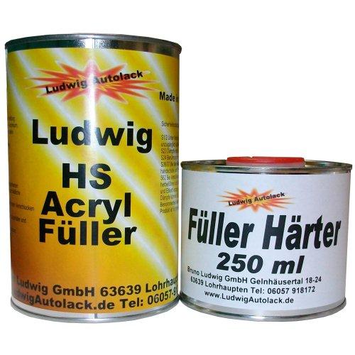 Preisvergleich Produktbild 1, 15 kg Acryl Füller grau Grundierung für Autolack Lackierer