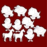 Bundle of 10 Etched Farm Themed Mirrors for Childrens Bedroom Decoration * SUMMER SALE *