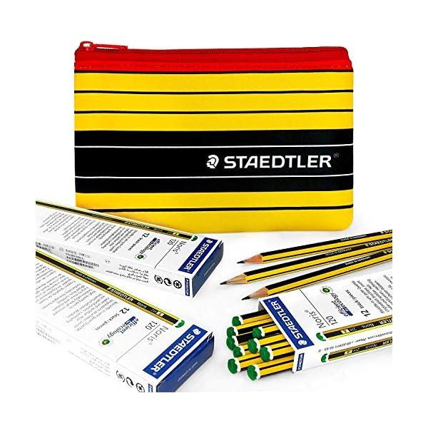 Staedtler – Noris 120-36 X 2H Premium Grafito Lápices y Juego Staedtler Noris Estuche