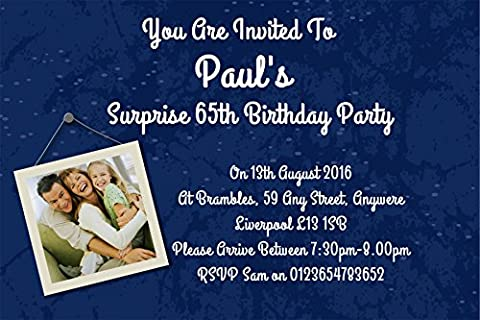 80 Personalised Surprise Birthday Party Invite ~ Invitations for ANY age ref D/BL