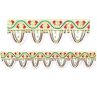 Amba Handicraft Door Hanging Toran Window Valance Dream Catcher Home Décor interior pooja bandanwaar Diwali gift festival colorful indian handicraft love.TORAN307