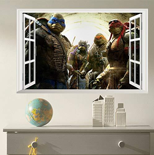 Cartoon Teenage Mutant Ninja Turtles Wandtattoos Schlafzimmer Baby Wohnkultur Wandbild Kunst Pvc Wandaufkleber Jungen Geschenk Poster wandaufkleber - Turtle Hintergrund Ninja