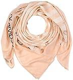 Calvin Klein Damen Schal Square Logo Scarf, Beige (Scarlet 618), One Size (Herstellergröße: OS)