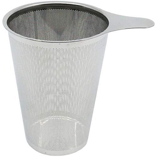 amapodo Teesieb, Edelstahl Teefilter für losen Tee, Teesiebeinsatz für Teekanne, Kanne, Metall Filter, Sieb groß