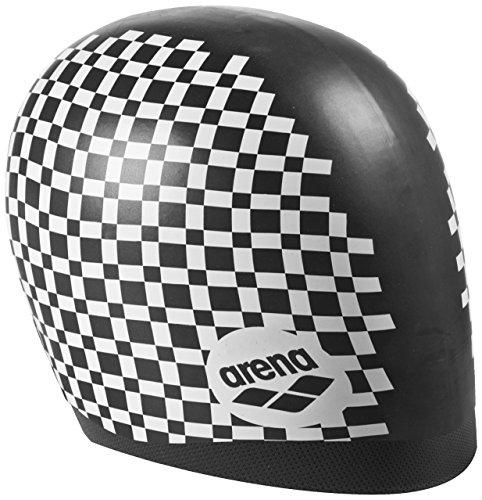 arena Unisex Badekappe Smartcap Therese (Wasserdicht, Haarband für lange Haare, Weiches Silikon), Black-White (515), One Size