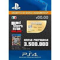 Grand Theft Auto Online - GTA V Cash Card | 3,500,000 GTA-Dollars | Codice download per PS4 - Account italiano