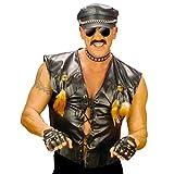 Photo de NET TOYS Motard Rocker Veste déguisement Veste de Rocker déguisement de Motard Costume de Rocker Village People Rudi Veste de Motard Mardi Gras XL 54/56 par NET TOYS