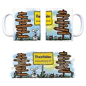 Rheinfelden (Baden) - Einfach die geilste Stadt der Welt Kaffeebecher - eine coole Tasse von trendaffe - passende weitere Begriffe dazu: Stadt-Tasse Städte-Kaffeetasse Lokalpatriotismus Spruch kw Karsau Herten Minseln Eichsel Inzlingen Adelhausen Degerfe