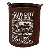 #9: HOKIPO® 63-Litre 'Laundry Rules' Folding Round Laundry Bag