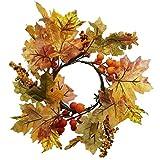 SIDCO ® Deko Kranz Herbstlaub Herbstkranz Tischkranz Türkranz Herbstdeko Tischdeko Natur
