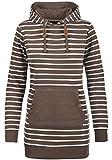 BlendShe Cloey Damen Langer Kapuzenpullover Hoodie Longpullover Mit Kapuze, Größe:L, Farbe:Mocca Mix (70816)