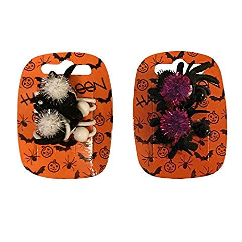 Lot de 2élastiques cheveux araignée fille Halloween Cheveux Queue de Cheval Supports Halloween Fancy Dress