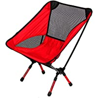 Apoyo de 310lbs Portable picnic al aire libre iwell ultraligero pesca camping senderismo viajar deportes con altura ajustable - Compact Silla plegable en una bolsa de transporte rojo