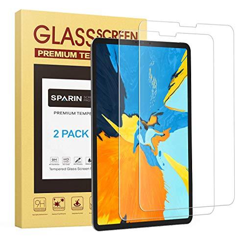 SPARIN [2 Stück iPad Pro 11 Panzerglas, Schutzfolie Displayschutzfolie mit [Anti-Kratz] [Blasenfrei] [2.5D Rand] [HD Klar][2018 Zoll]