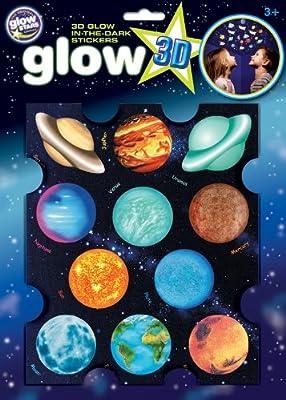 The Original Glowstars - Pegatinas 3D con diseño de planetas (brillan en la oscuridad) de The Original Glowstars