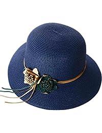 Sombrero De Visera Para Mujeres Sombrero De Paja Plegable Sombrero De Playa  De Verano 7b85f2c8a71