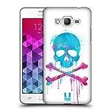 Head Case Designs Pinsel Totenkopf Mit Gekreuzten Knochen Ruckseite Hülle für Samsung Galaxy Grand Prime